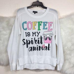 Coffee is my sprit animal sweatshirt